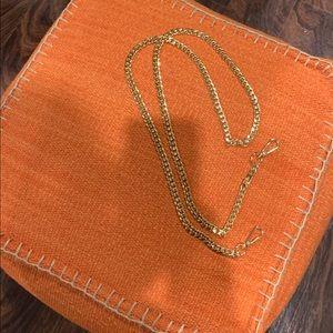 "Accessories - Handbag 51"" gold chain"